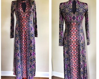 Beautiful vintage inspired maxi dress size Small
