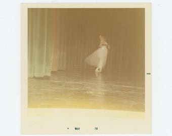 Vintage Photo Snapshot: Ballet Dancer, 1970 (75584)