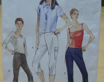 Free shipping! Vogue 7032 Women's capri and slim fitted stretch pants 8 10 12 sewing pattern UNCUT