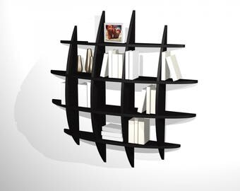 Bookcase design RETENTO round PM black