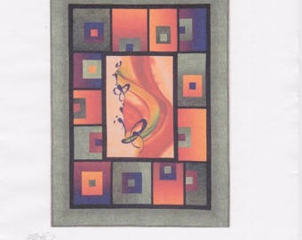 Block Me In, Willow Brook Quilts, DIY Quilt Panel Pattern