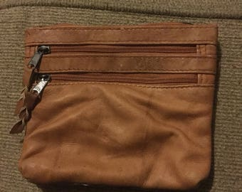 Vintage Leather Clutch Emily Ann