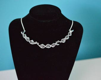 Biolojewelry - DNA Strand Double Helix Necklace