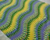 Cotton Quilting Fabric, Jane Sassaman by Free Spirit, Jane's Floral Fantasy, Purple and Yellow, 2 yards, Boho Hippie, OOP Rare Destash