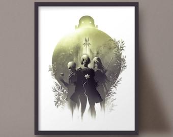 Nier Automata Art Print 2B 9S A2 Yorha Poster