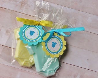 10 Baby Onesie Soap Favors/It's a boy/It's a Girl/Baby shower favors/Baby boy/Baby girl