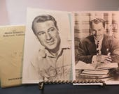 1944 Two Autographed Movie Star Photographs