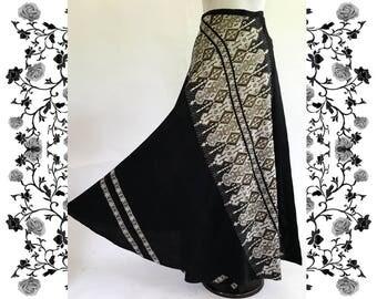 1970's Vintage Ethnic Wrap Around Skirt