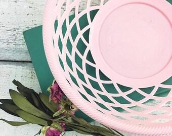 SUMMER SALE Super Cute Pink Vintage Basket