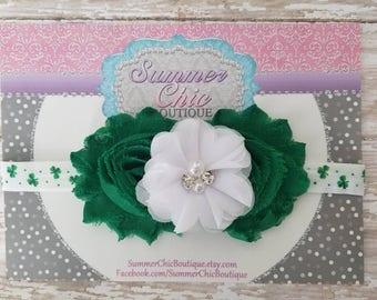 St Patricks Day Headband, Green Headband, Baby Headband, Bow Headband, Baby Headbands, Infant Headband, Newborn Headbands