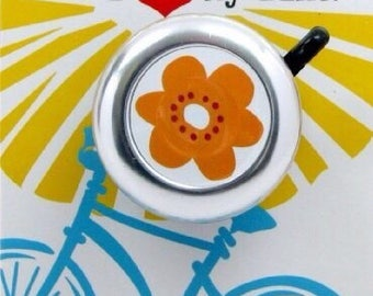 Orange Flower Bike Bell