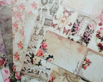 Prima Marketing scrapbook paper- Tales of you and Me- 12 x 12 inch- 6 double sided sheets- perfect for Journals of Note books-