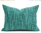 "CLEARANCE SALE 16""x12"" Indoor Outdoor Lumbar Pillow Covers Decorative Pillows Blue Pillow Richloom Outdoor Remi Lagoon"