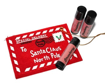 Christmas- Lip Balm- Gift Set- 3 tubes- Secret Santa- Stocking Filler- Tree decoration- Xmas Gift- For her- Medusa Holistics