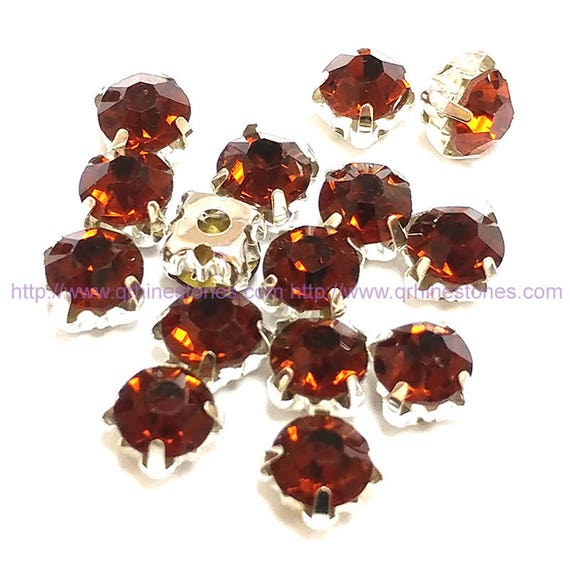 sew on rhinestones smoke topaz brown silver setting claw 4mm 5mm 6mm 7mm 8mm from qrhinestones. Black Bedroom Furniture Sets. Home Design Ideas