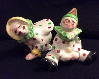 Vintage Happy Clown Salt and Pepper Shakers