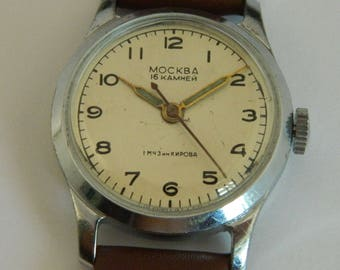 USSR Russian watch Moscow Moskva 1-MChZ #168