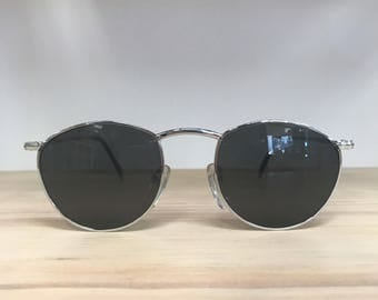 Round vintage sunglasses Silver gold