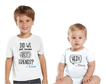 Did We Just Become Best Friends Set, Pregnancy Announcement, Family Shirts, Big Sister Little Sister, Big Brother Little Brother, Twin Set