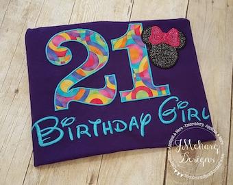 Disney-Inspired Birthday Shirt - 16th - 21st - 40th - 50th - 60th - Custom Birthday Tee 830 rainbow