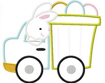 Dumptruck with Eggs - Boy Easter Shirt - Custom Easter Shirt - Dump Truck