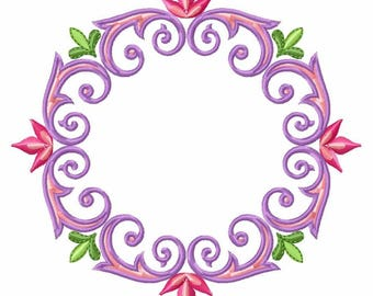 Floral Wreath Frame with Monogram - Custom Tee 11