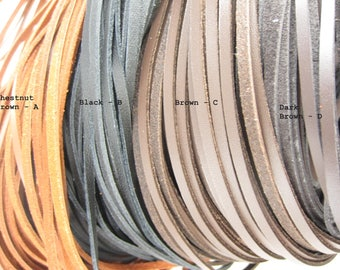 Leather strip, Black leather, Genuine leather strip, Leather cords, Jewelry making, 3mm, 1yd strip