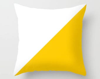 outdoor cushions, outdoor pillows, colour block cushion, yellow cushion, yellow pillow, minimalist cushion, minimalist print,
