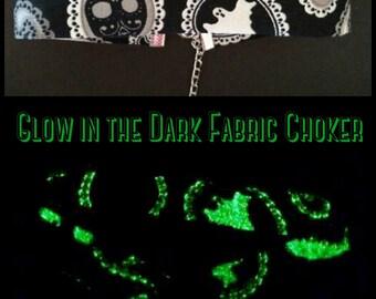 Glow in the Dark Fabric Choker