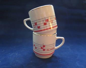 La Musica Espresso Cups Demitasse Cups Pair