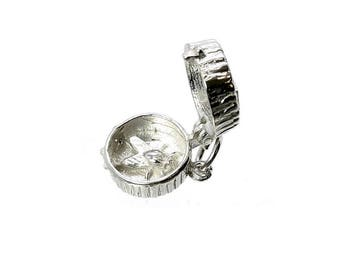 Sterling Silver Opening Fly In Ointment Charm For Bracelets
