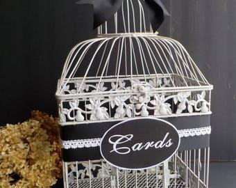 Bird Cage Wedding Money Holder, Birdcage Card Holder, Shower Card Holder, Bird Cage Money Holder, Personalized Wedding Supplies Bridal Decor