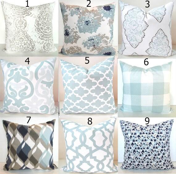 blue throw pillows zoom