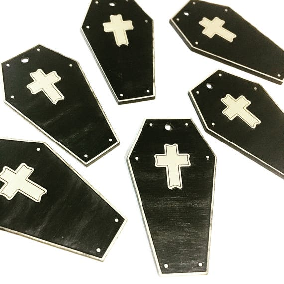 Laser Cut Supplies-8 Pieces.Coffin Charms - Laser Cut Acrylic Halloween -Earring Supplies- Little Laser Lab Acrylic Products