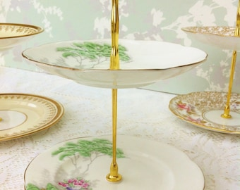 English Garden 2 Tier Mini Cake Stand