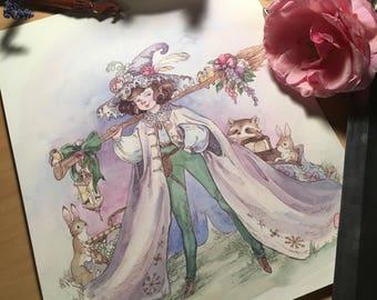 Fine Art Print Gnome Sorcerer