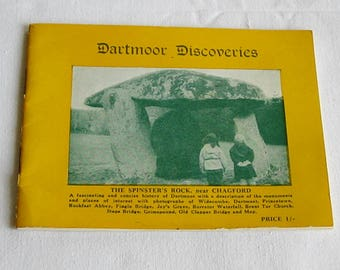 Vintage Black and White Visitors Brochure Dartmoor Discoveries 17 pages