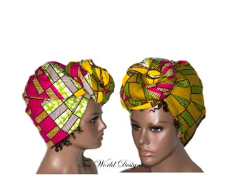 Head wrap Scarf/ Head wraps African/ Turban headwrap/ Head scarf/ head wrap/ womans headwrap/ African Head scarf/ HT190