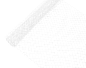 """1 Yard x 10"""" White Russian Millinery Birdcage Veil Netting - Available in 17 Colors"""