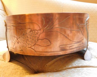 Vintage Copper Footed Bowl