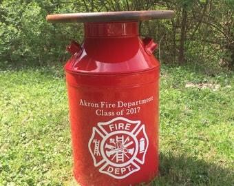 Firefighter Gift - Firefighter Decor - Firefighter Home Decor-Thin Red Line-Fire fighter- fireman gifts- firefighter wife-thin red line gift
