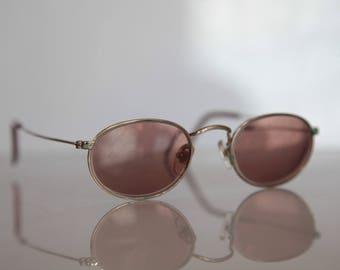 Vintage MC 41-CL Eyewear,  Gold Frame,   Oval Brown Lenses RX Prescription . Rare Piece.
