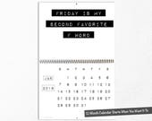 2018 Funny Wall Calendar, Sassy, Sarcastic Office Accessories, Inappropriate Coworker Gift, Hilarious Girlfriend, Rude Humor