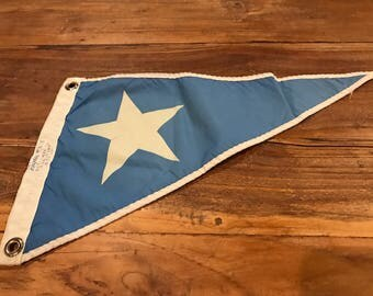 Vintage Boat Flag Pendant Boat Marina