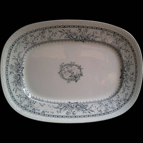 Blue China, Blue and White Platter, Old Dishes, Johnson Brothers, Blue Lace, Thanksgiving, English