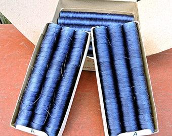 Hembobs Blue Nylon Thread 1 Gross 49 Yards per Hembob Spool 144 Pieces Sewing Thread