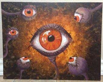 Scrutin-eyes - Acrylic Painting