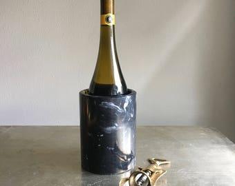 vintage black marble wine chiller
