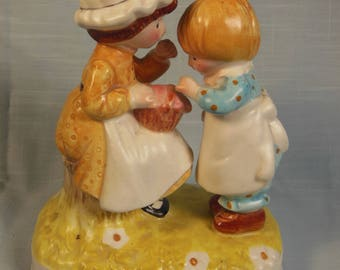"""Vintage Holly Hobbie- 1974-Figurine-"""" Happiness Is Meant to Be Shared."""""""