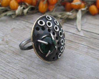 chrome diopside Ring , Ring Sterling Silver, Sterling silver